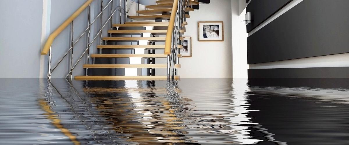 water damage repair stairs